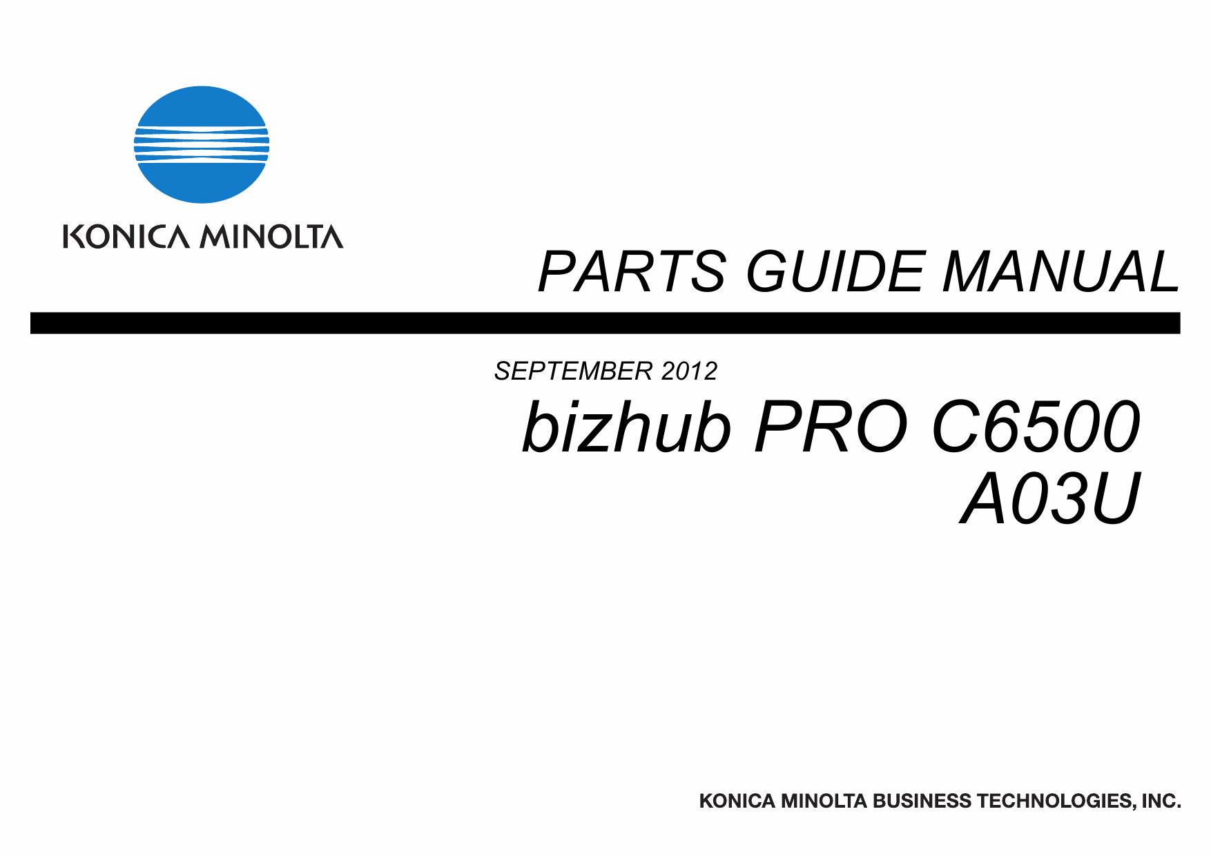 Konica-Minolta bizhub-PRO C6500 Parts Manual-1